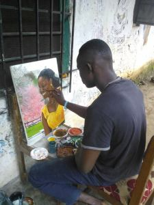 Makiniko's Art by a very Talented Young Liberian  Man name Togar Wilfred Tompoe.